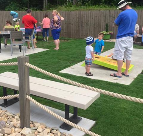 Children Playing Cornhole