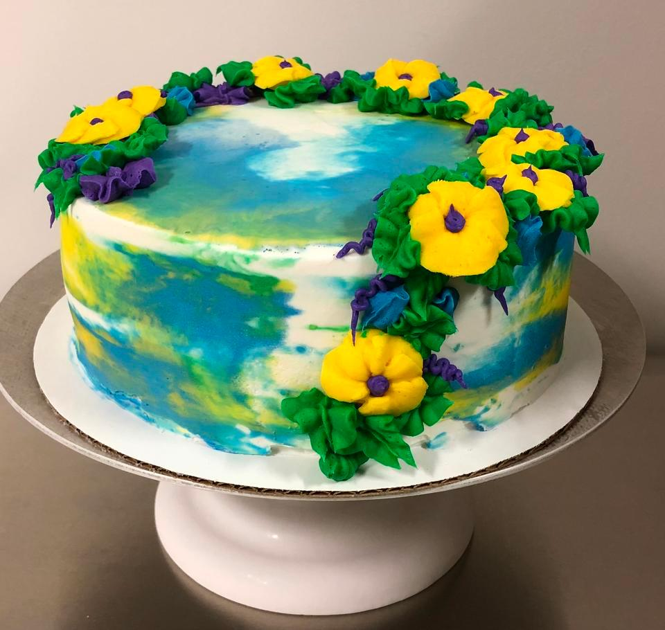 Water Color Cake